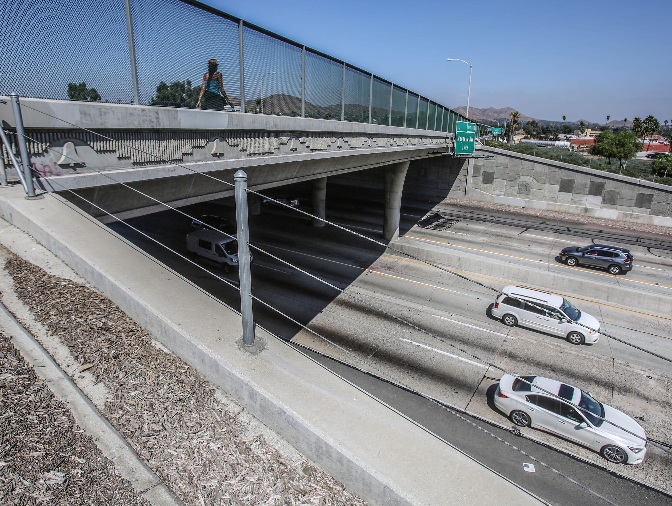 The La Sierra Avenue overpass, where Dane Norem was