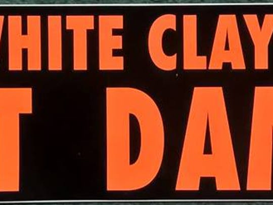 A bumper sticker like this one was used by Dorothy Miller in the fight against a dam at White Clay Creek.