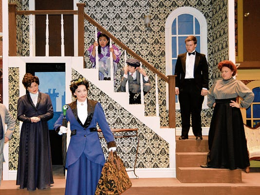 """The cast of the popular musical """"Mary Poppins"""" is seen on the stage of the UTEP Dinner Theatre.   (Courtesy photo)"""