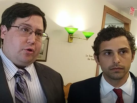"Naples attorney Joseph Coleman, pictured left with his colleague Zachary Lombardo, says they are willing to think outside the box ""if we have to, destroy the box"" to resolve the suit over  claimed ownership of the Shell Love Bug vehicle built for Lee County."