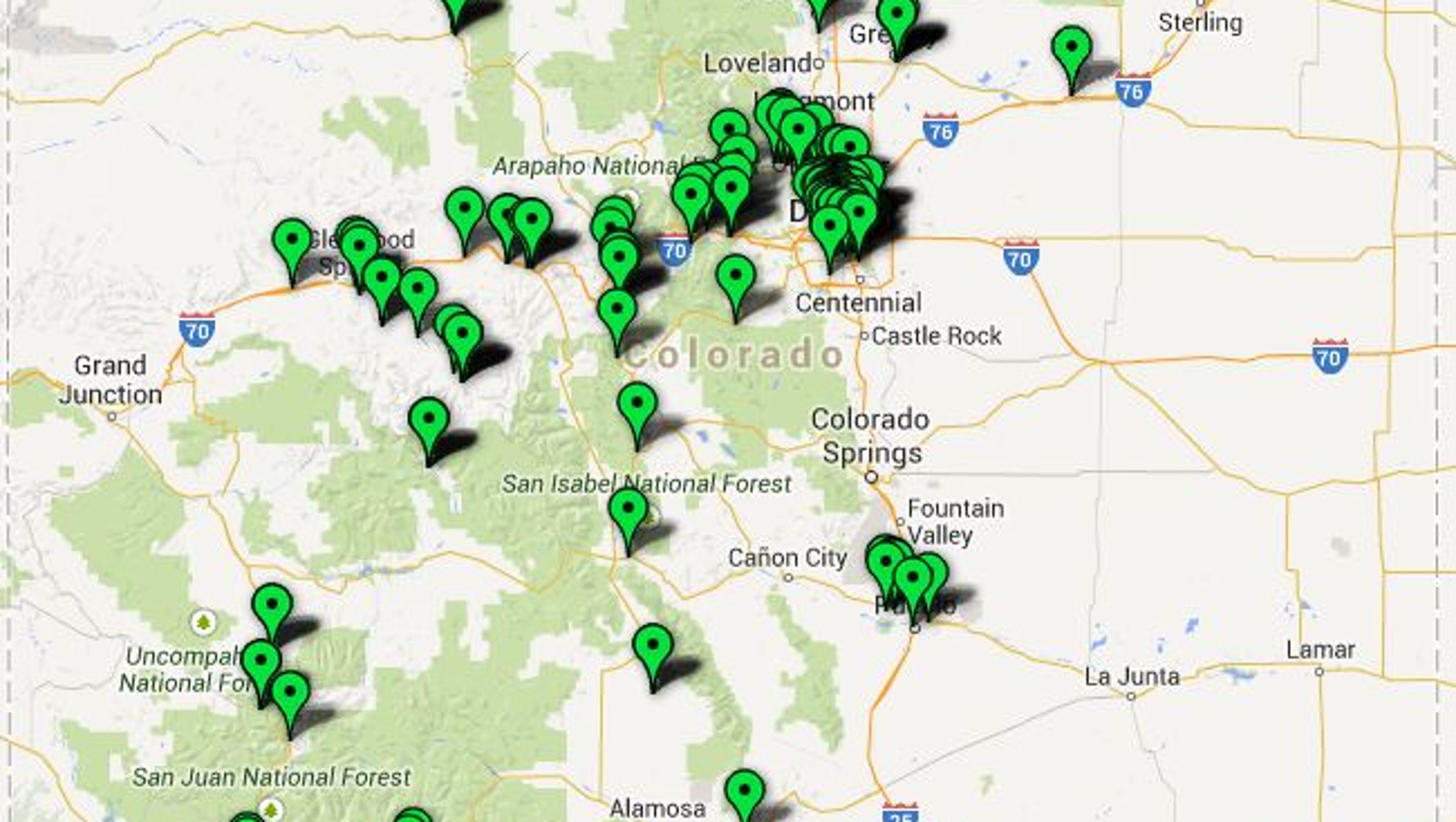 Map Colorado Marijuana Stores
