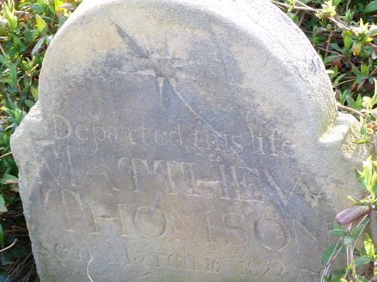 The grave of Matthew Thomson, brother to Continental Congress Secretary Charles Thomson.