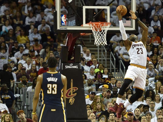 90eb5154a6d USP NBA  PLAYOFFS-INDIANA PACERS AT CLEVELAND CAVA S BKN CLE IND USA OH. Cleveland  Cavaliers ...