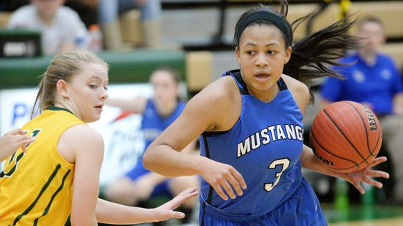 Aaliyah McCollum (3) is one of the top returning players for the Smoky Mountain girls basketball team.