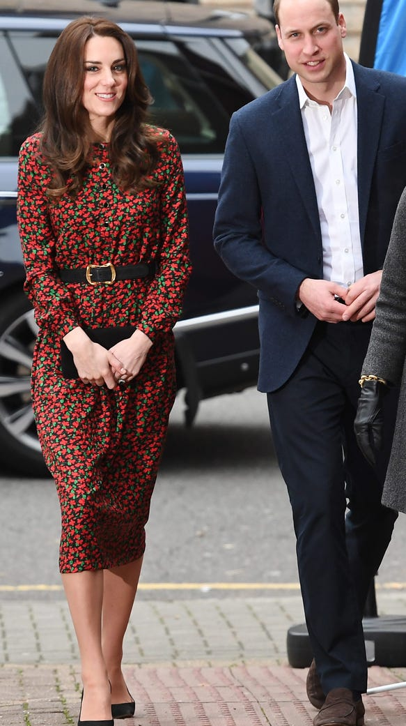 Kate and Will arrive for a meeting of Heads Together