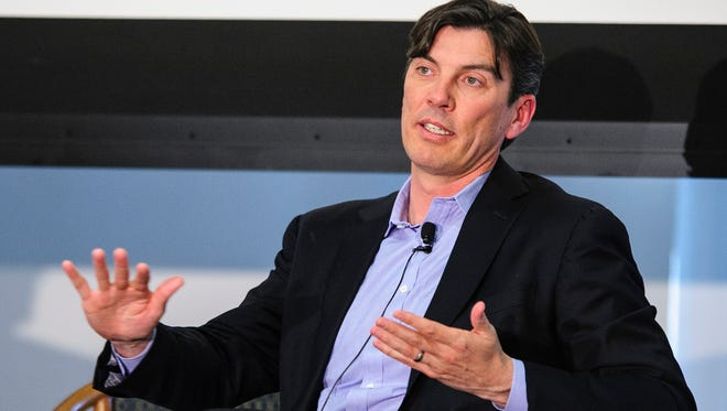 Tim Armstrong, chief executive officer of AOL Inc., speaks at the Society of American Business Editors and Writers 2013 Spring Conference in Washington, D.C.,on April 4, 2013.