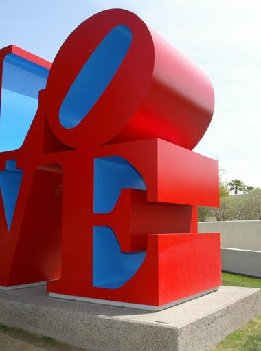 """""""LOVE"""" SCULPTURE: Grab onto some love and visit the Robert Indiana """"Love"""" sculpture on the Scottsdale Mall. The sculpture is large and can be climbed on and touched, making it an ideal site for picture taking."""