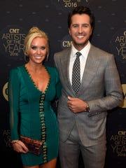 Luke Bryan and his wife Caroline Boyer on the CMT Artist