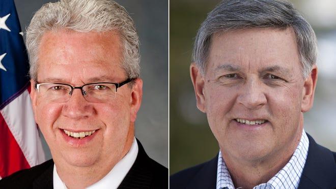 Sen. Ted O'Brien, D-Irondequoit, left, and Republican Rich Funke.