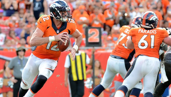 Broncos quarterback Paxton Lynch (12) appears to be on the cusp of taking over Denver's offense, but he could benefit from an NFL minor league, if it existed, writes columnist Mark Knudson.