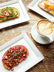 A mix of sweet and savory toast options from Glen Edith.