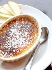 The crème brulée was a cross between crème brulée and