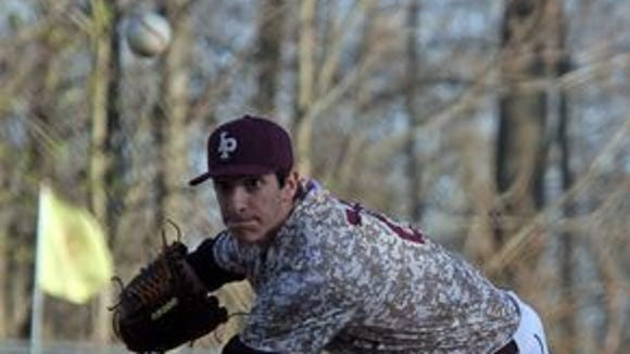 Iona Prep's Joe LaSorsa (25) pitches against Fordham