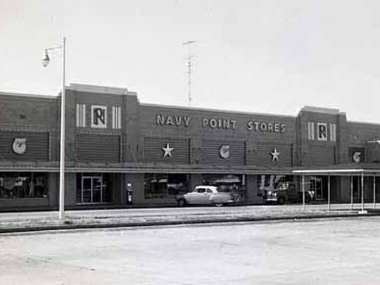 Navy Point Stores in the 1950s. Notice the logo, which has been reborn to promote neighborhood pride