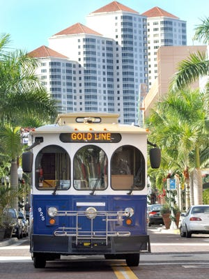 LeeTran's seasonal Gold Line  connecting North Fort Myers and the city of Fort Myers' historic downtown will continue through April 26. The River District trolley routes started service shortly before Thanksgiving, connecting riders with downtown's shopping, dining, entertainment and historical attractions.