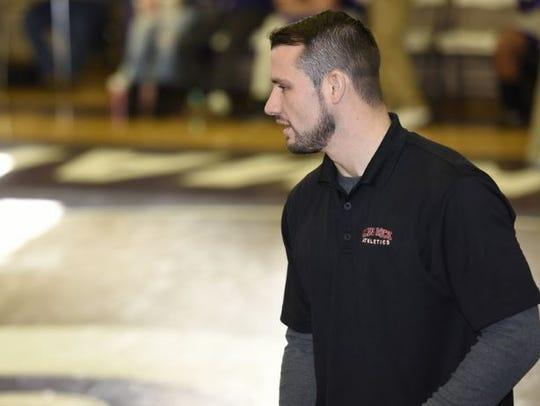 Glen Rock wrestling coach Corey Fitzpatrick is trying