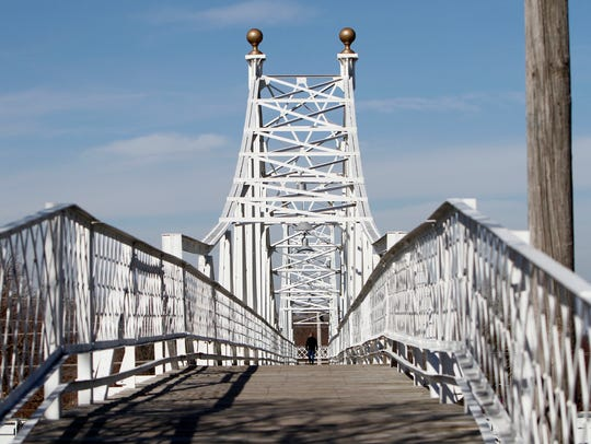 The Jefferson Avenue Footbridge, built in 1902, is