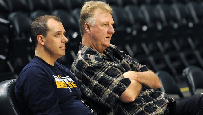 Larry Bird, president of basketball operations for the Pacers, says he hasn't decided whether to keep Frank Vogel on as coach.