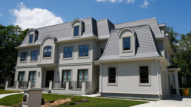 A newly build home on Hilltop Court in Lakewood, one of numerous luxury properties in the Hope Chapel Road area.