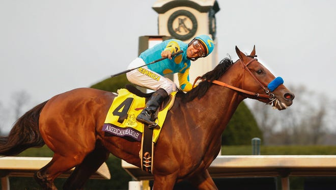 "Scott Utterback/courier-journal American Pharoah and Victor Espinoza win the Breeders' Classic in 2015. American Pharoah and Victor Espinoza win the Breeders' Classic and set a track record for the distance. Oct. 31, 2015I've only shot a hand full of horse races in my eight years at The Courier-Journal, so I was pretty happy to get put on the Breeders' Cup team. It was a wonderful two days of having fun and learning that came to it's apex with The Classic - American's Pharoah's last race. I was positioned at the finish line and by the ""down the stretch they come"" there was no real doubt that AP was going to win. What I wasn't expecting was the surreal, almost movie like, moment when jockey Victor Espinoza would look over, smile and point my way as they crossed the finish line. If it had been a Disney movie, American Pharoah would have winked."