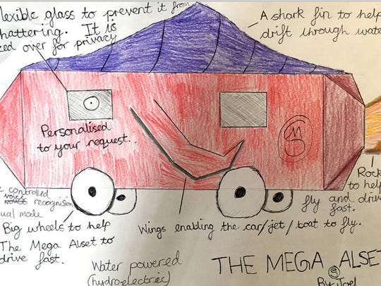Joel, 11--The Mega Alset is a hydroelectric vehicle