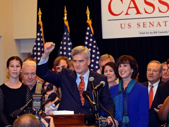 Surrounded by family and friends, Louisiana Sen.- elect