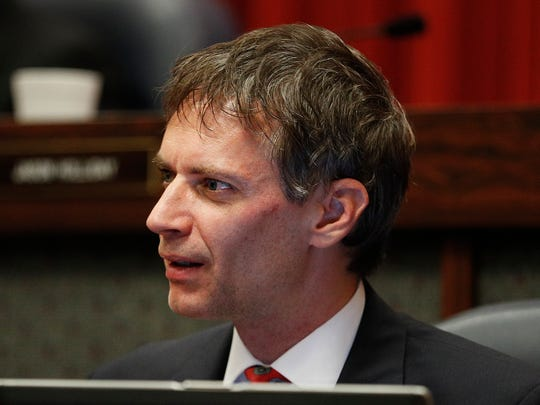 Indianapolis City-County Councilman Jeff Miller arrives