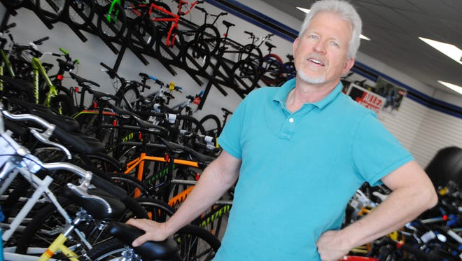 Although known primarily as a bike shop, David Hill, owner of Ride On Sports, said his business serves the simple enthusiast as well as serious participants in cycling, hiking and backpacking, golf and tennis.