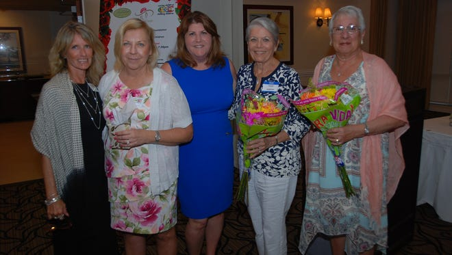Caring Children Clothing Children's Cookie Lunch Committee members, from left, Gigi Suntum, Missy Noyes, Donna Alexander, Connie Anderson and Rhoda Johnson.