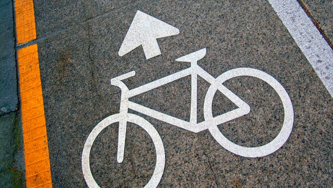 Cyclists pathway sign is shown in this undated photo.
