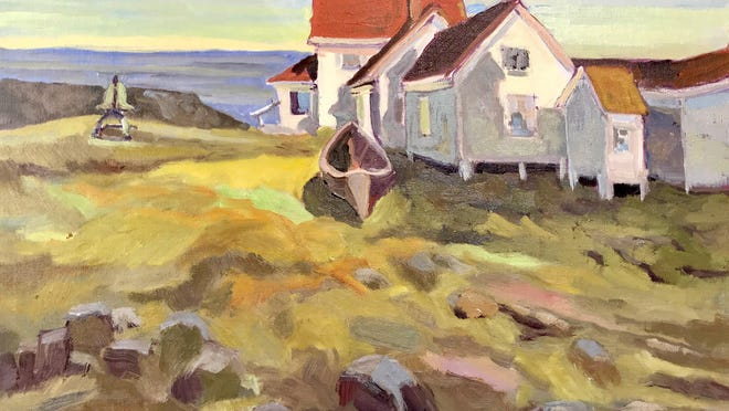"""""""Monhegan Light House,"""" an oil on canvas by Lennie Mullaney, will be on display in """"Catching The Light"""" Sept. 30 to Nov. 1 at the Robert Lincoln Levy Gallery in Portsmouth."""