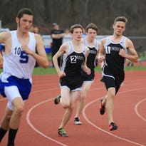 Runners from all three Park boys track and field teams compete Friday during the Bolger-Mangan city meet.
