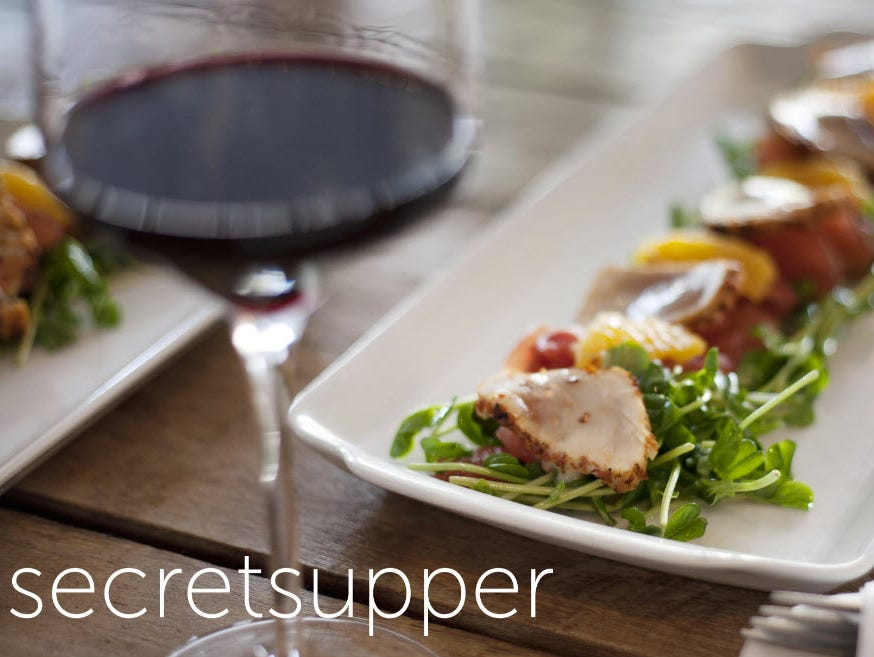 Enjoy a five-course meal with wine pairings.