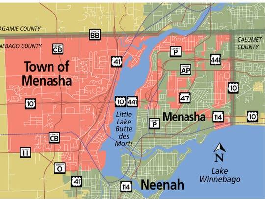 Town of Menasha map.