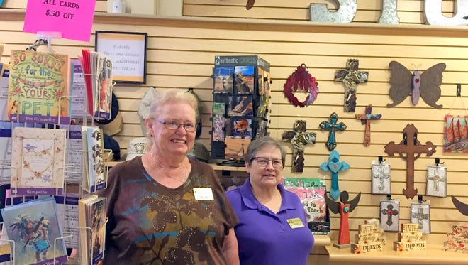 Store manager Punkin Gose, left, and assistant Diana Manley operate the Deming-Luna-Mimbres Museum Gift Store on the ground floor of the museum at 301 S. Silver Avenue. The gift store is open from 9 a.m. to 4 p.m., Monday through Saturday.