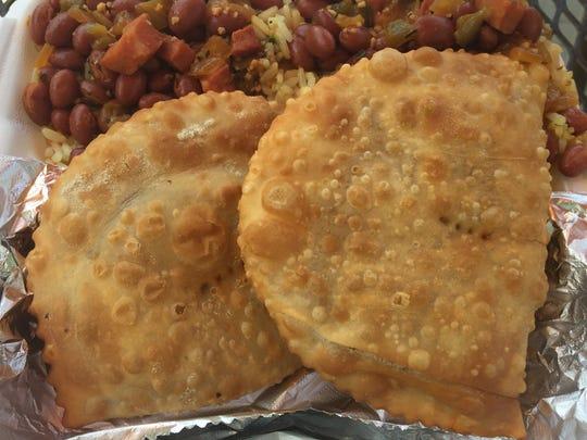 Empanadas, rice and beans from Big Al's Empanadas