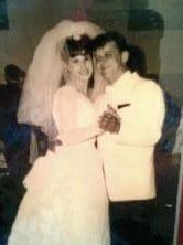 Dan and Bobbie Swiercz on their wedding day in 1965.