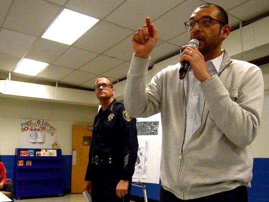 Reno City Councilman Oscar Delgado and Police Chief