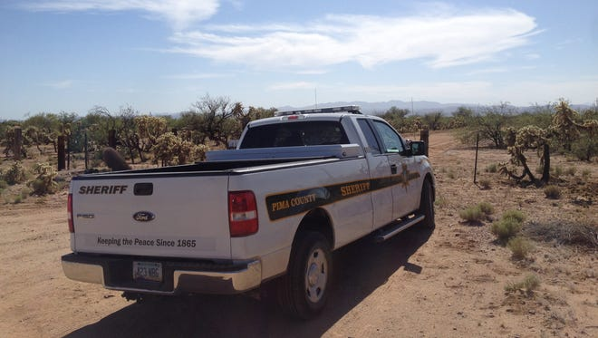 The Pima County Sheriff's Department found a burned-out ultralight plane with a person dead inside on Sunday near Wilmot and Sahuarita roads.
