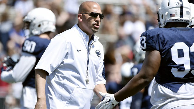 James Franklin said his Nittany Lions are ready to make significant jump on offense, and that begins on his line.
