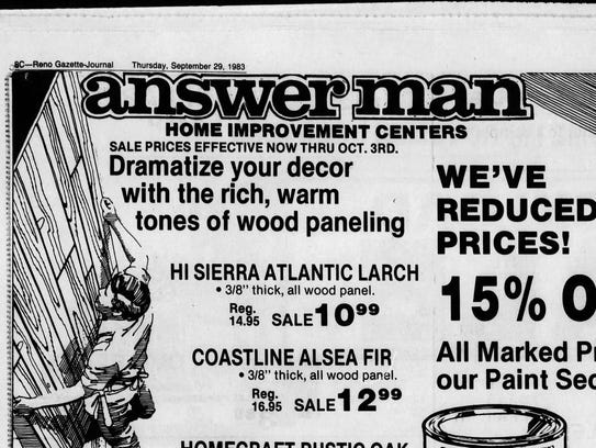 Answerman ad in the Sept. 29, 1983 edition of the Reno