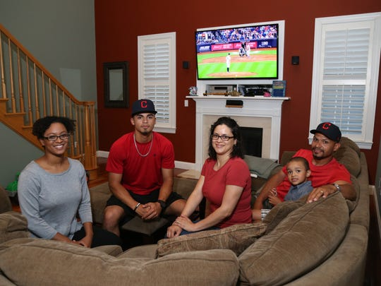 The Torres family, from left, Jalana Fuller, Lenny Jr., Ana, Josiah and Lenny Sr. pose together at their home in Beacon on June 13.