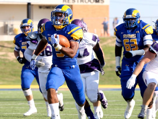 Angelo State's Josh Stevens burns the McKendree Bearcats