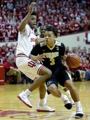 As a freshman, Carsen Edwards is second on the team