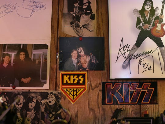 Brad Lemerond has bumped into Gene Simmons numerous times over the decades, including the photo, at left, of the two of them outside Austin Straubel International Airport in Green Bay in the early '80s.