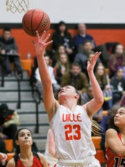 Somerville's Emily Markowski shoots against Bound Brook