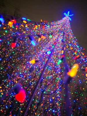 More than 250,000 lights and 2 miles of extension cords are used for the WPS Garden of Lights at Green Bay Botanical Garden.