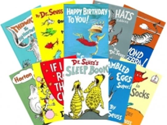 Books by Dr. Seuss.