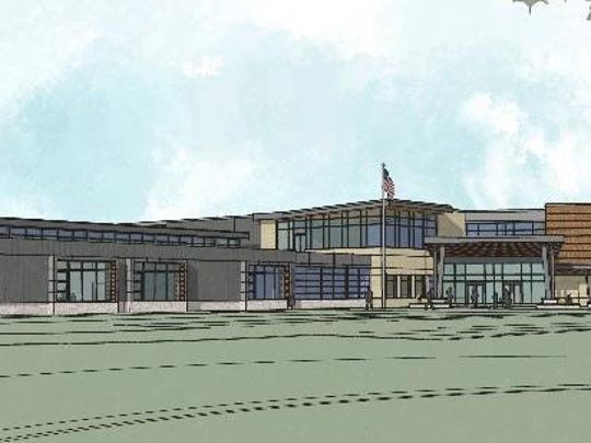 A rendering shows what the exterior of the new Meadow