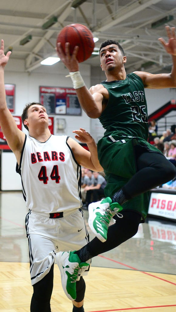 Pisgah defeated East Henderson 61-53 in overtime in their game at Pisgah High School on Tuesday, Jan. 17, 2017.